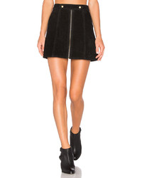 Understated Leather X Revolve High Waist Suede Zip Skirt In Black