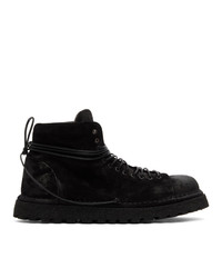 Marsèll Black Gomme Suede Pallottola Lace Up Boots