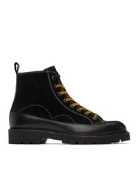 Ps By Paul Smith Black Suede Buhl Boots
