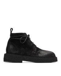 Marsèll Black Suede Crepe Sole Boots