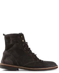 Golden Goose Deluxe Brand Distressed Lace Up Boots