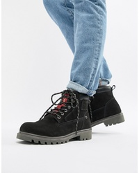 Levi's Hodges Leather Boot In Black