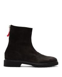 424 Black Nubuck Boots
