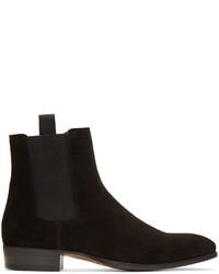 Marc Jacobs Black Suede Chelsea Boots