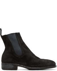 Guidi Black Suede Chelsea Boots
