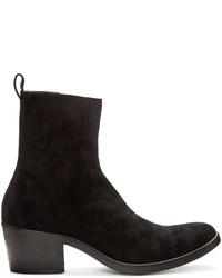 Haider Ackermann Black Suede Chelsea Boots