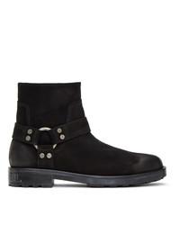 Diesel Black Suede D Throuper Dbb Boots