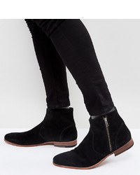 ASOS DESIGN Chelsea Boots In Black Suede With Zip Detail And Sole