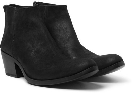 ... Black Suede Chelsea Boots Haider Ackermann Cuban Heel Brushed Suede  Boots