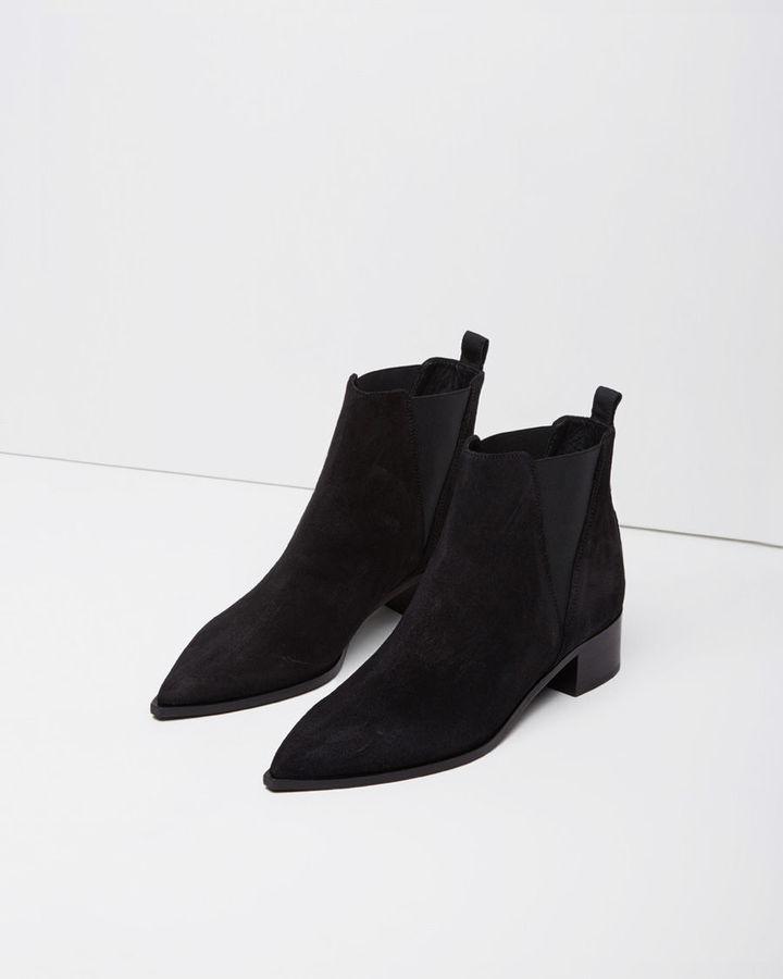 26be9034d0c Acne Studios Jensen Suede Ankle Boot, $550 | La Garçonne | Lookastic.com