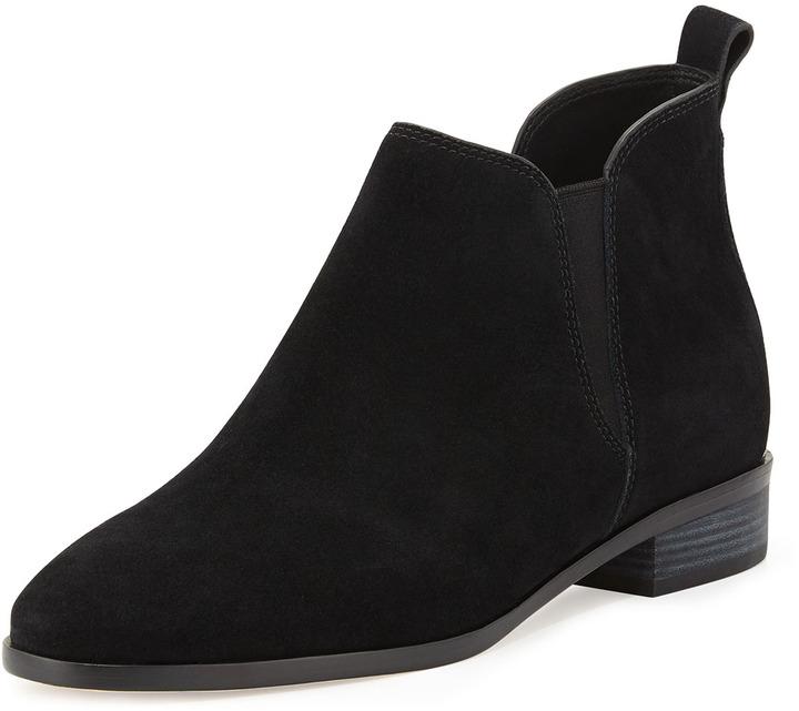 black suede bootie