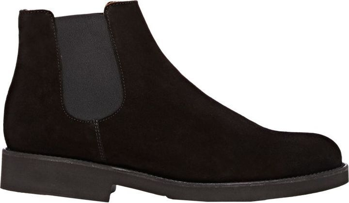 793fded22c9f Barneys New York Suede Chelsea Boots Black, $380   Barneys Warehouse ...
