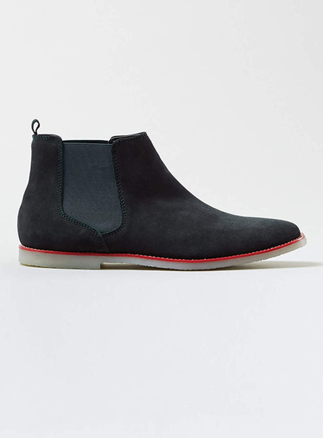 topman navy suede chelsea boots where to buy how to wear