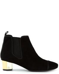 Tory Burch Chunky Heel Chelsea Boots