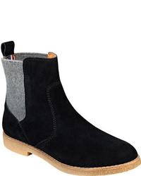 Tommy Hilfiger Zita Chelsea Boot Burnt Browngrey Rich Suedewool Boots