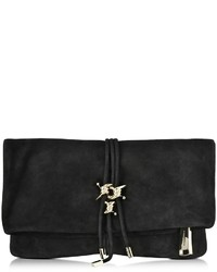 Dsquared2 Babe Wire Black Suede Clutch