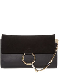 Chloé Black Faye Clutch