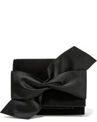 Victoria Beckham Bow Embellished Suede Clutch