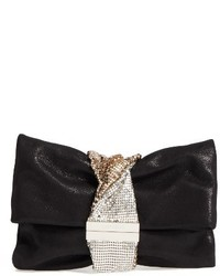 Chandra shimmer suede clutch black medium 1102376