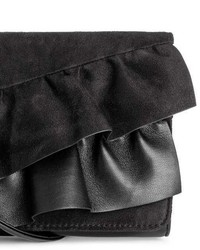 H&M Clutch Bag With Ruffles