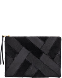 H&M Clutch Bag With Suede Details Black Ladies