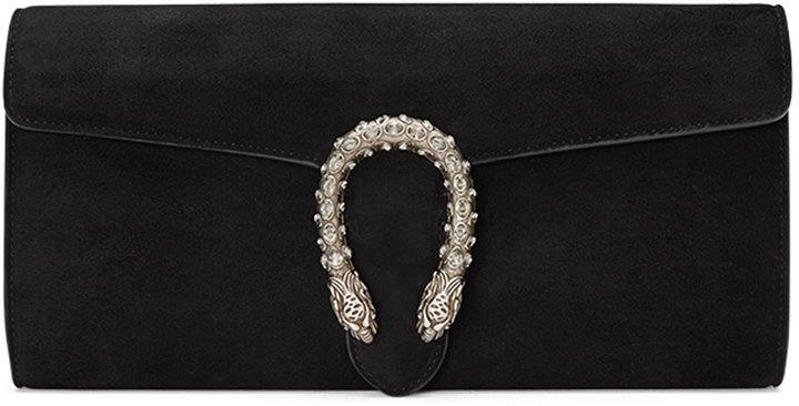 b77950a3d443dd Gucci Dionysus Suede Clutch Bag Black, $1,500 | Neiman Marcus |  Lookastic.com