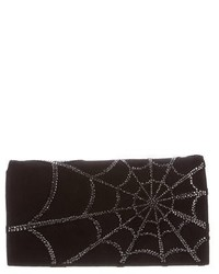 Roberto Cavalli Embellished Suede Clutch