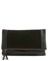 Sole Society Jemma Suede Clutch Black