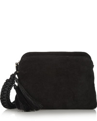 The Row Suede Clutch Black