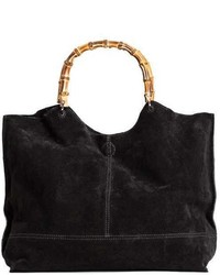 H&M Suede Shopper With Clutch Bag