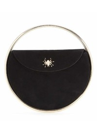 Charlotte Olympia This Is Not A Bag Embellished Suede Clutch