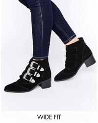 Black Suede Cowboy Boots