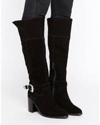 Asos Cabrilla Suede Western Knee High Boots