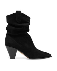 Aquazzura Boogie 70 Suede Ankle Boots
