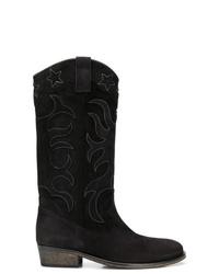 Via Roma 15 Contrast Stitch Cowboy Boots