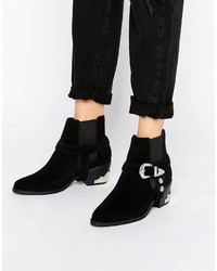 Asos Roto Suede Western Boots