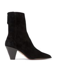 Aquazzura Saint Honore Suede Sock Boots