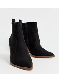 ASOS DESIGN Wide Fit Elliot Western Boots