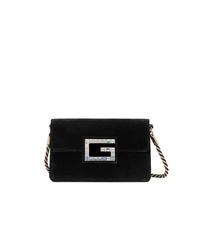 Gucci Black Shoulder Bag With Square G