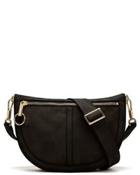 Elizabeth and James Small Scott Moon Crossbody Bag Black