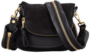 Tom Ford Jennifer Suede Mini Crossbody Bag Black