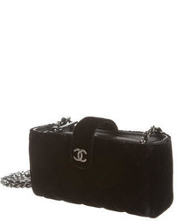 bfa96e99dd9d Chanel Quilted Velvet Crossbody Phone Holder, $715 | TheRealReal ...
