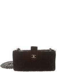 Chanel Quilted Velvet Crossbody Phone Holder