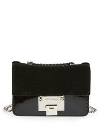 Jimmy Choo Rebel Mini Suede Crossbody Bag Black