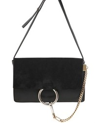 Chloé Small Faye Leather Suede Shoulder Bag
