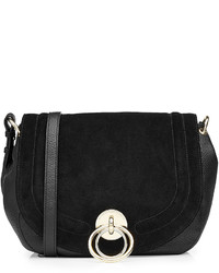 Diane von Furstenberg Suede And Leather Shoulder Bag