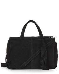 Suede Crossbody Tote Bag