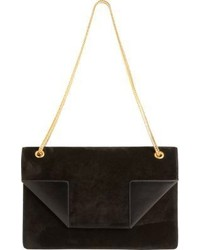 Saint Laurent Suede Medium Betty Bag Black