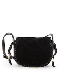 Kelsi Dagger Tavi Suede Leather Saddle Crossbody Bag