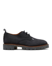 Off-White Black Nubuck Cross Derbys